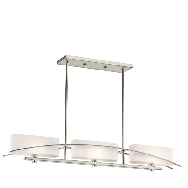Kichler Lighting Suspension Collection 3-light Brushed Nickel Linear Chandelier - N/A