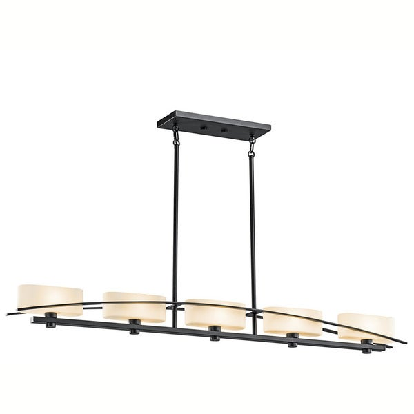 Kichler Lighting Suspension Collection 5-light Black Linear Chandelier