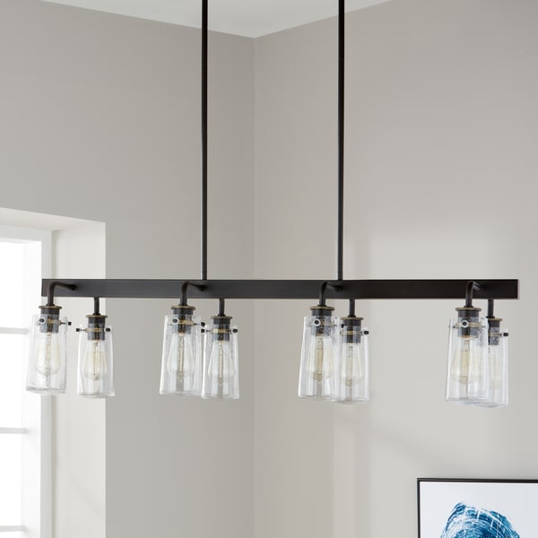 Kichler Lighting Braelyn Collection 8-light Olde Bronze Linear Chandelier