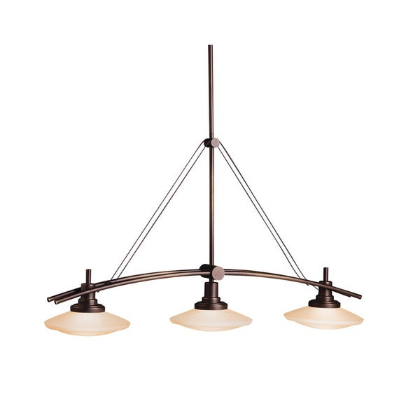 Kichler Lighting Structures Collection 3-light Olde Bronze Linear Halogen Chandelier