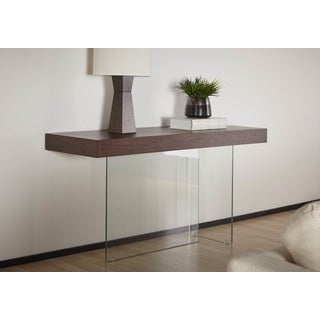 Modern Life Andrea Brown Wood/Glass Console Table