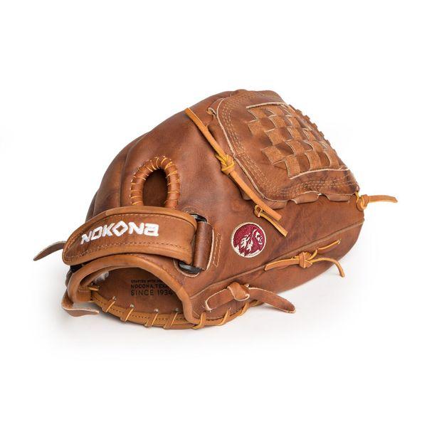 Nokona W-V1250H/L Brown Leather 12.5-inch Walnut Closed-web Right-handed Fastpitch Thrower Softball Glove