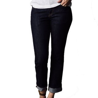 1791 Supply and Co Women's Dark-rinse Denim Straight-leg Jeans