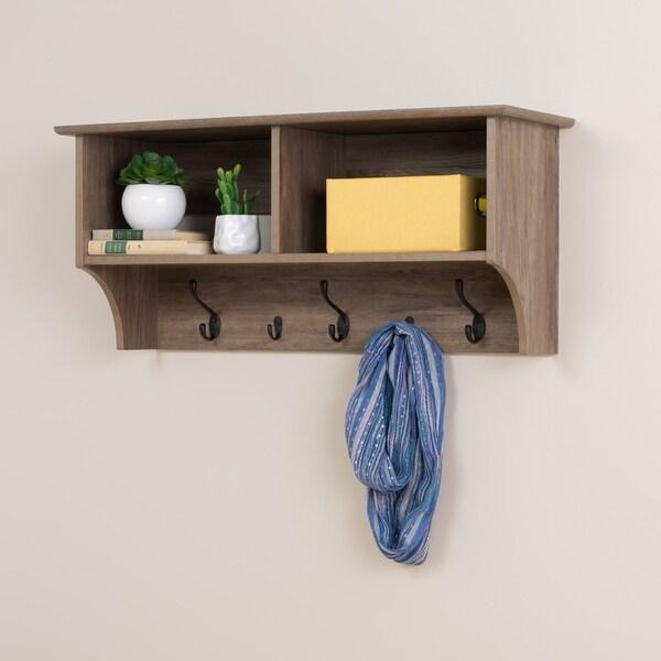 Prepac Drifted Grey Wood 36-inch Wide Floating Entryway Shelf