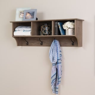 Prepac Drifted Grey Wood 48-inch Wide Floating Entryway Shelf