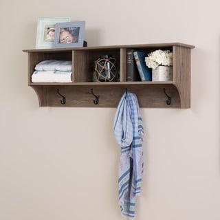 Prepac Drifted Grey Wood 48-inch Wide Floating Entryway Shelf