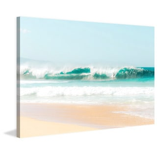Marmont Hill - 'Peace, Love, Surf' by Morgan J Hartley Painting Print on Wrapped Canvas