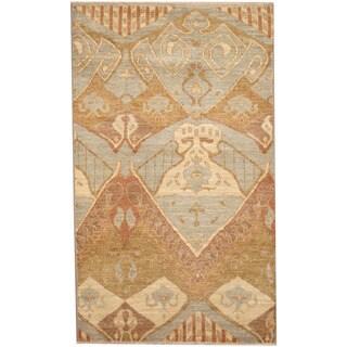 Handmade Herat Oriental Afghan Ikat Wool Rug (Afghanistan) - 3' x 5'