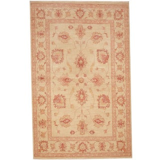 Herat Oriental Afghan Hand-knotted Tribal Oushak Wool Rug (3'1 x 5')