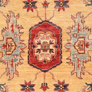 Herat Oriental Afghan Hand-knotted Kazak Wool Rug (3'2 x 5'1)