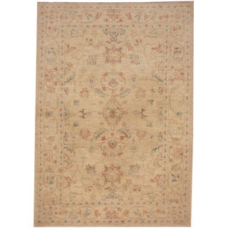 Herat Oriental Afghan Hand-knotted Tribal Oushak Wool Rug (3'5 x 4'10)