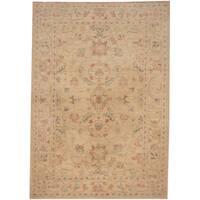 Handmade Herat Oriental Afghan Tribal Oushak Wool Rug  - 3'5 x 4'10 (Afghanistan)