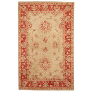 Herat Oriental Afghan Hand-knotted Tribal Oushak Wool Rug (3'3 x 5'1)
