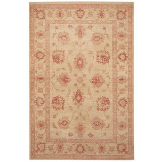 Herat Oriental Afghan Hand-knotted Tribal Oushak Wool Rug (3'3 x 4'10)