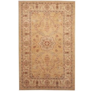Herat Oriental Afghan Hand-knotted Tribal Oushak Wool Rug (3'1 x 4'10)
