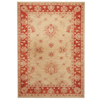 Herat Oriental Afghan Hand-knotted Tribal Oushak Wool Rug (3'5 x 4'9)