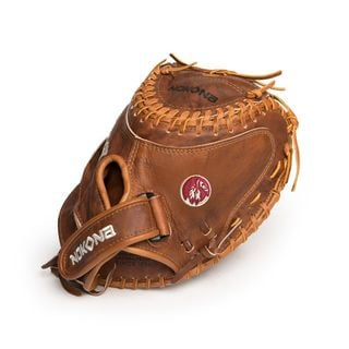 Nokona W-V3250C/L Brown Leather 32.5-inch Walnut Right-handed Thrower Softball Fastpitch Catchers Mitt Closed-web Glove