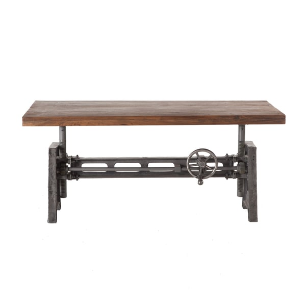 Shop Artezia Reclaimed Teak And Iron Adjustable Coffee