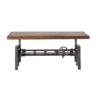 Artezia Reclaimed Teak and Iron Adjustable Coffee Table 53