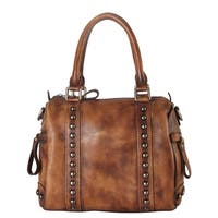 Diophy Leather Doctor-style Studded Tote Bag with Removable Strap