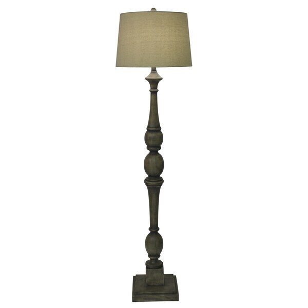 Decor Therapy Distressed Baluster Grey Floor Lamp