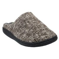 Blue Men's 'M-Tanfun' Fabric and Rubber Slippers