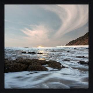 """Serene Seascape"" Framed Plexiglass Wall Art"