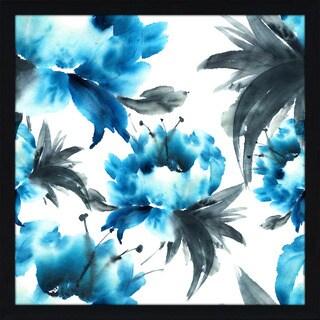"""Love Blooms 1"" Framed Plexiglass Wall Art"