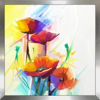 """""""Flower Grown Wild"""" Framed Plexiglass Wall Art"""