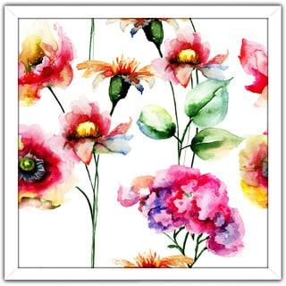 """Wild Flowers 4"" Framed Plexiglass Wall Art"