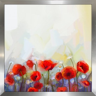 """Poppies are Red"" Framed Plexiglass Wall Art"