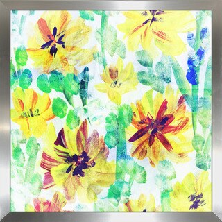 """Wild Flowers 2"" Framed Plexiglass Wall Art"