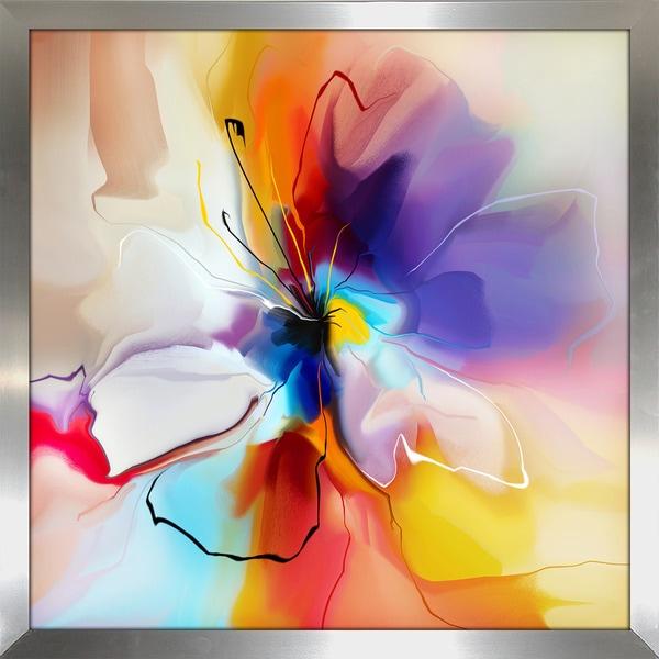 """Visions of Fire"" Framed Plexiglass Wall Art"