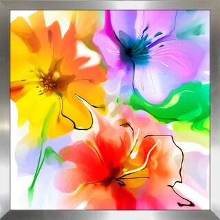 """""""The Floral Dance"""" Framed Plexiglass Wall Art"""