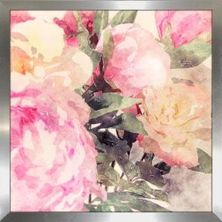 """""""Pink Floral"""" Framed Plexiglass Wall Art"""