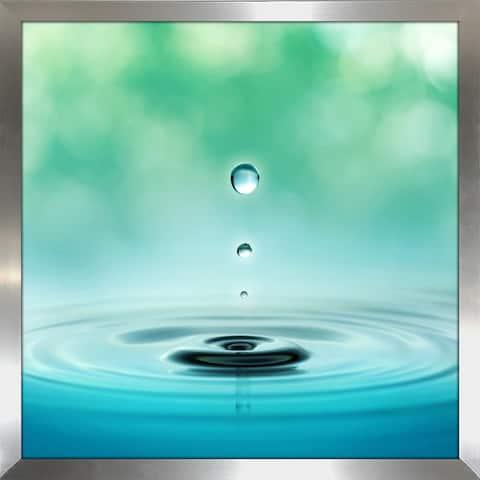 """Water Droplet"" Framed Plexiglass Wall Art"