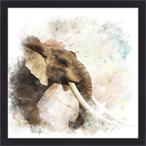 """Elephant"" Framed Plexiglass Wall Art"