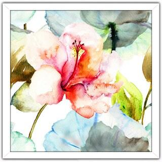 """""""Pink Flower 1"""" Framed Plexiglass Wall Art"""