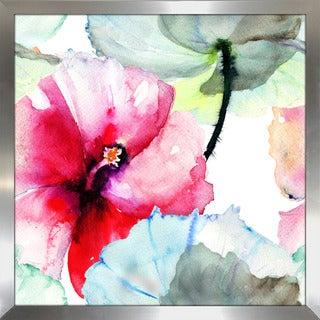 """""""Pink Flower 2"""" Framed Plexiglass Wall Art"""