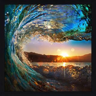 """Pipeline 1"" Framed Plexiglass Wall Art"