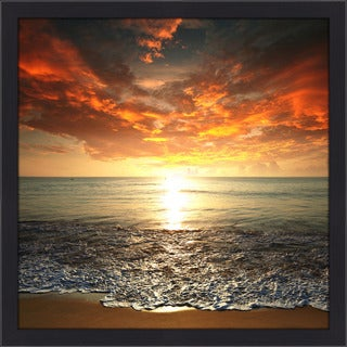Shop Quot Rosso Quot Framed Plexiglass Wall Art Free Shipping