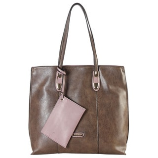 Diophy Faux Leather Large Tote with Coin Purse
