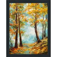 """Autumn Trees"" Framed Plexiglass Wall Art"