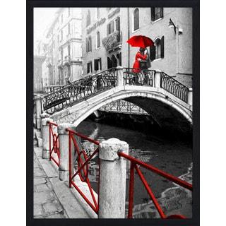 """Venice Romance"" Framed Plexiglass Wall Art"