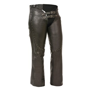 Women's Low-Rise Double Buckle Chaps|https://ak1.ostkcdn.com/images/products/13392998/P20090028.jpg?_ostk_perf_=percv&impolicy=medium