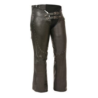 Women's Low-Rise Double Buckle Chaps|https://ak1.ostkcdn.com/images/products/13392998/P20090028.jpg?impolicy=medium