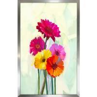 """""""Floral Frenzy 2"""" Framed Plexiglass Wall Art"""