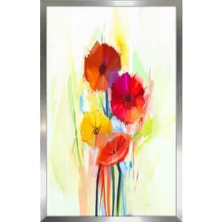 """""""Floral Frenzy 1"""" Framed Plexiglass Wall Art"""