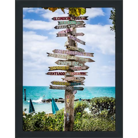 """Key West Signs"" Framed Plexiglass Wall Art - Green"