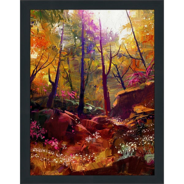"""Forest of Secrets 3"" Framed Plexiglass Wall Art"